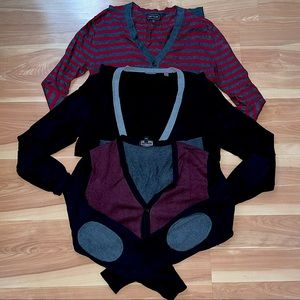 Lot f 3 express cardigan sweaters size small in excellent condition $250 worth